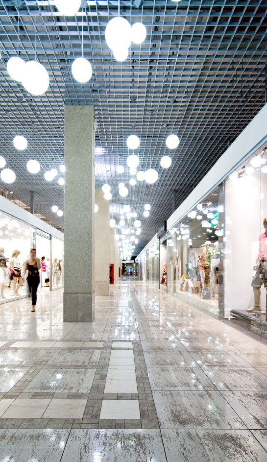 Indoor Mall with Shoppers