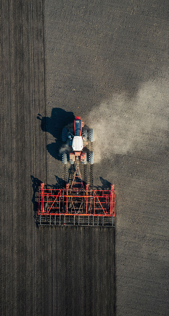 Overhead Image of Tractor
